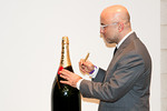 Steve Allen with Moet bottle at Peace Market 2012