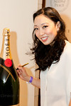 Judy Joo with Moet Bottle at Peace Market 2012