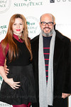 David Cross and Amber Tamblyn at Peace Market 2012